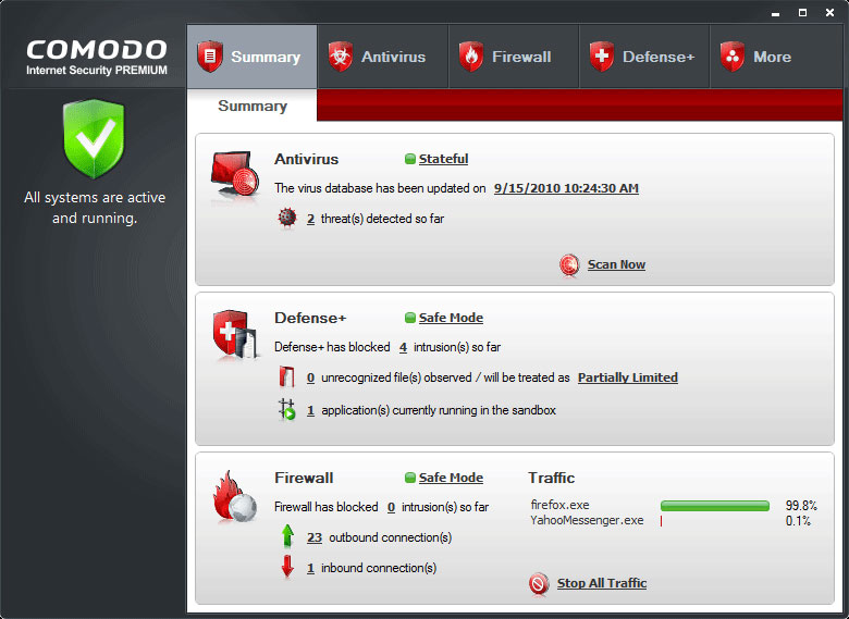 Comodo Internet Security 11.0.0.6606